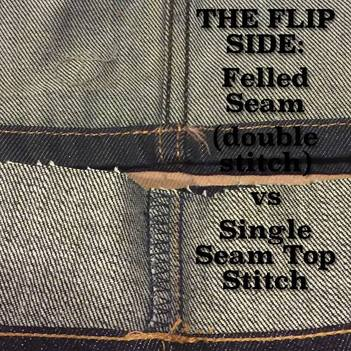 Flat Felled Seam - Selvedge Denim Jeans