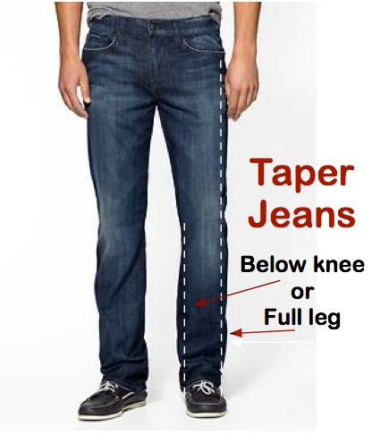 Particularly if you want to shorten your jeans, you are going to want to bring the shoes you most plan to wear with them to the tailor to help the tailor mark the jeans at the right length. 4. Altering the length is a cinch. One of the easiest fixes that a tailor can make to a pair of jeans is shortening the length. There are two ways they can do it.